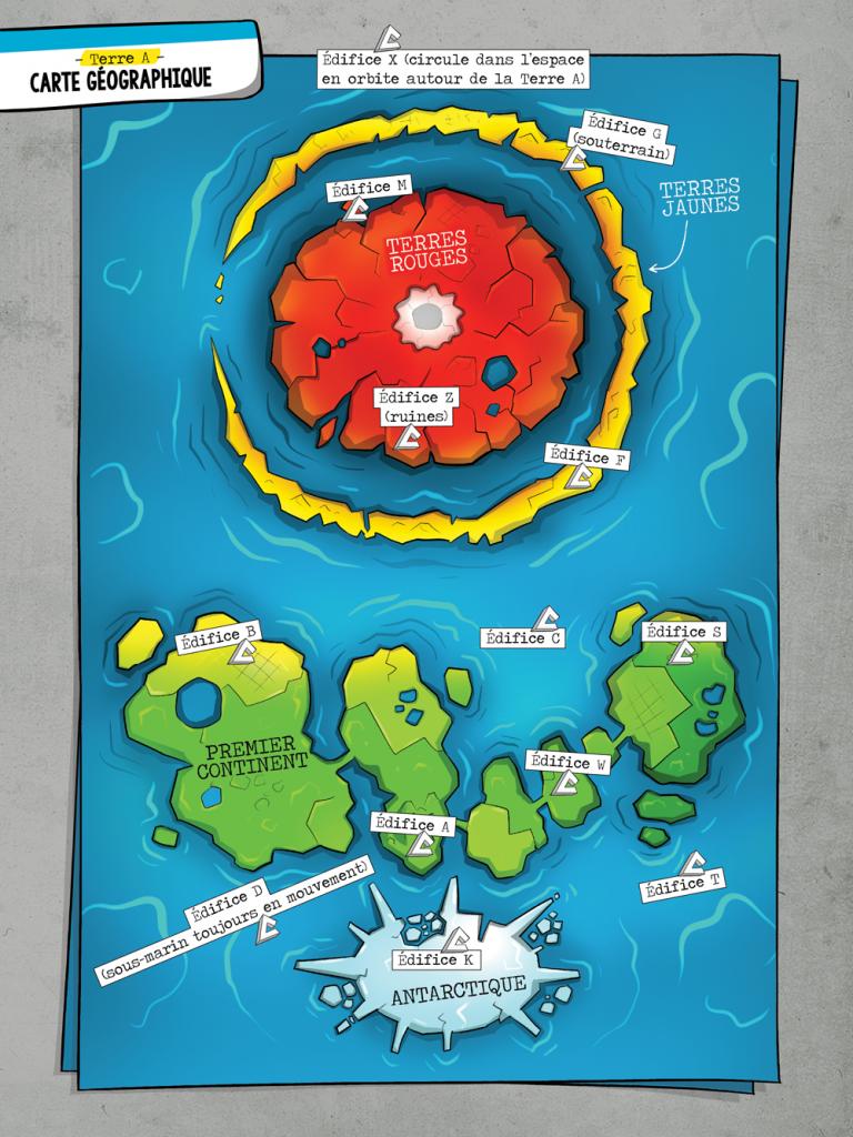 Carte Terre A. Alex A. L'Agent Jean