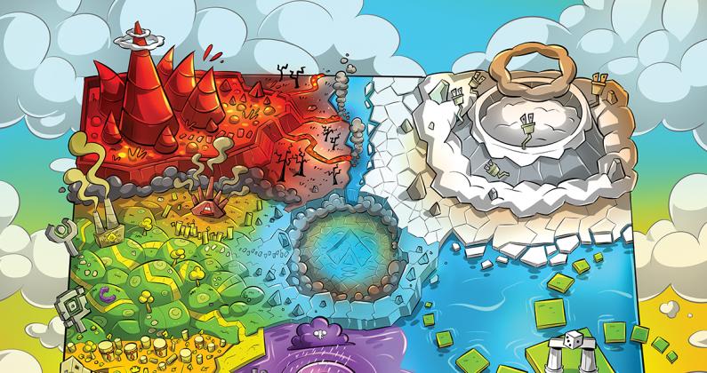 Carte géographique d'Ataria